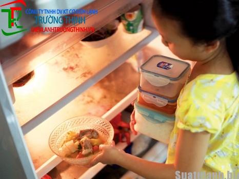 Để thức ăn trong tủ lạnh vẩn nhiểm khuẩn
